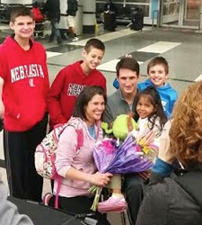 Cecilia Arrives in the U.S. where she is greeted by the Wieseman Family of Aurora, IL