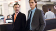 "Hartley Sawyer and Wilson Cleveland in the Wall Street drama ""SPiN"""