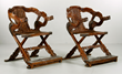 Pair of Chinese Huanghuali office chairs