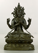Chinese 18th C. Large and Rare Bronze Buddha Figure
