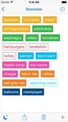 Idealist Grocery List Screenshot
