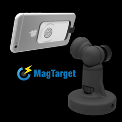 We are pleased to introduce MagTarget™ a wireless charging system for your smartphone and tablets. It securely holds your device with no clips and no clamps. It wirelessly charges your devices without plugging the phone into anything. No wires on your pho