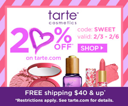 tarte 20% off promo code discount coupon 2015 review swatches