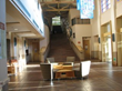 The spacious Lobby of the Osher Marin JCC transforms with each event as audiences prepare to enter the Hoytt  theater