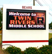 LED Message Center at Twin Rivers Middle School