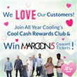 All Year Cooling to Give Away Two Maroon 5 Concert Tickets