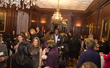 "More than 200 powerful female business leaders, community members, and local dignitaries participate in ""speed networking"" during the launch event for the Women's Leadership Institute."