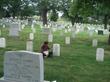 Du Pham visits Col. Grubb's grave in Arlington