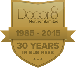 Decor8 Northern logo - 30 years in business