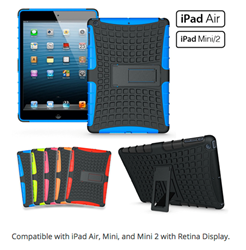Slim Rugged Dura Case for iPad Air 2