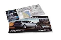 Custom Printed Postcard Mailer with Variable Addressing