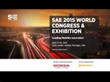 Media Invited to Attend SAE International 2015 World Congress in Detroit