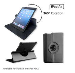 Leather Swivel Case for iPad Air and Air 2