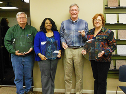 George Uptagraft, Cathy Burke, Marty LeFiles and June Lawson all received Dedicated Service awards From Easter Seals Southern Georgia.