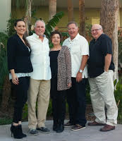 (l-r) Jacquie Francisco, Russ Cornelius, Ro Breehl, Jim Hughes and Tom Traynor; Photo by Andy Fritchley