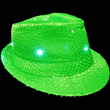 Green Flashing Fedora from Sureglow.com