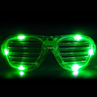 Green LED Shutter Glasses from Sureglow.com