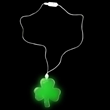 Green LED Shamrock Light Up Necklace from Sureglow.com