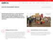 Disaster Management Services page from the Updated GER Website