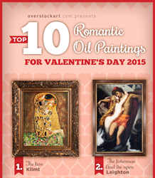 Top 10 Most Romantic Oil Painting for Valentine's Day 2015