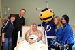 Tampa Bay Lightning's Vice President of Corporate and Community Affairs, Dave Andreychuk, visits patients at Florida Hospital Wesley Chapel
