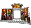 Adage Displays features a full line of truss systems like Canis, this island exhibit from Exhibitor's Handbook.