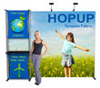 Adage Displays' full line of Hop Up tension fabric displays will meet any design or space requirement.
