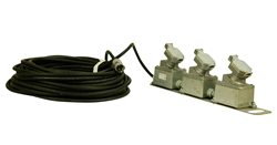 100' Cord Equipped with Three Explosion Proof Receptacle and an Explosion Proof Plug