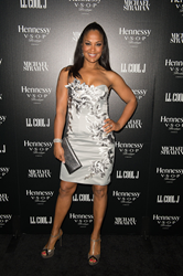 Laila Ali carries Jill Milan New Canaan Clutch to the Hennessy Toasts Achievements In Music on February 7, 2015 in Los Angeles, California. (Photo by Earl Gibson III/Getty Images)