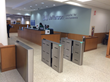 Hospital lobby security Fastlane Plus turnstiles from Smarter Security