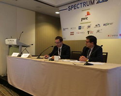 """Chief Technical Officer, Dr. Chris Horne, PE along with Google's Spectrum Engineering Lead, Dr. Andrew Clegg gave a presentation on """"5G and Spectrum"""" at the recent Spectrum 2025 Conference"""