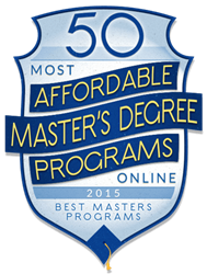 EKU ranks among the nation's best online programs for affordable master's degrees.