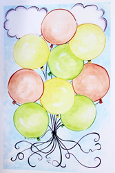 kee kreations balloon print