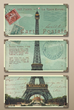Eiffel Tower Carte Postale S-3 40917 from Uttermost