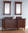 Urban North Hamption 72″ Double Vanity 900-V72-WCH-ABK from James Martin