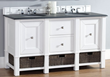 Madison 60″ Double Vanity In Cottage White 800-V60D-CWH from James Martin