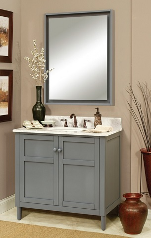 Homethangs Com Has Introduced A Guide To Trendy Gray Shaker Style Bathroom Vanities