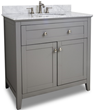 36″ Gray Shaker Style Bathroom Vanity VAN102-36-T from Hardware Resources
