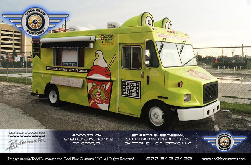 Cool blue customs food truck enterprise builder announces for Cool food truck designs