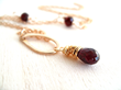 Vitrine Designs Has Garnet Teardrop Necklace Worn on The Vampire...