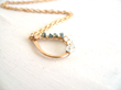 Rough Diamond Necklace in Blue, from Vitrine Designs.
