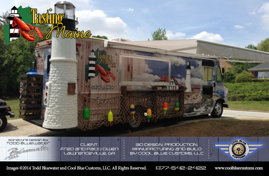 Cool blue customs launches new package offering complete for How to design a food truck