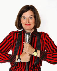 "Star of NPR's ""Wait Wait... Don't Tell Me!"": PAULA POUNDSTONE appears at the Osher Marin JCC on Sat May 14, 2016 for An Evening of Comedy."