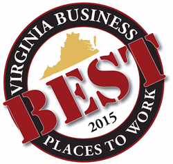 Best Places to Work in Virignia 2015 logo