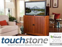 Touchstone Home Products, an industry leader in TV lift cabinets, TV lift mechanisms and electric fireplaces is awarded with the Best of Houzz 2015 Customer Satisfaction Award. Touchstone Home Products is dedicated to delivering top quality home products