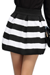 High Waist Skirt, Striped Skirt