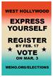 City of West Hollywood Cues-Up Lyric-Filled Voter Registration Effort