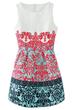 Vintage  Dress, Jacquard  Dress, Sleeveless Dress