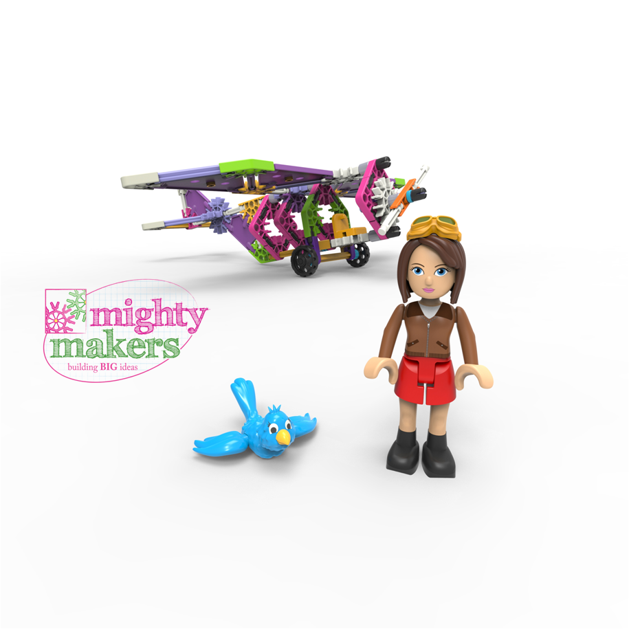 K Nex Introduces Mighty Makers Building Sets Designed To Inspire Girls To Build Big Ideas