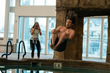 Host a cannonball contest at a public pool